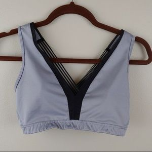 Victoria Sport Gray and Black Sports Bra